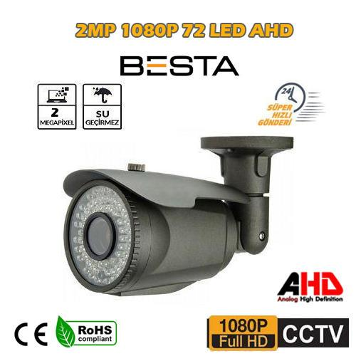 2 MP  IR CAM, 4MM, 72 LED  AHD METAL KASA GÜVENLİK KAMERASI BT-372