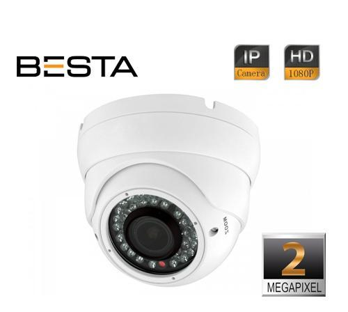 2MP 1080P IR Dome 2.8 - 12mm Varifocal Lens IP Kamera BT-5280C