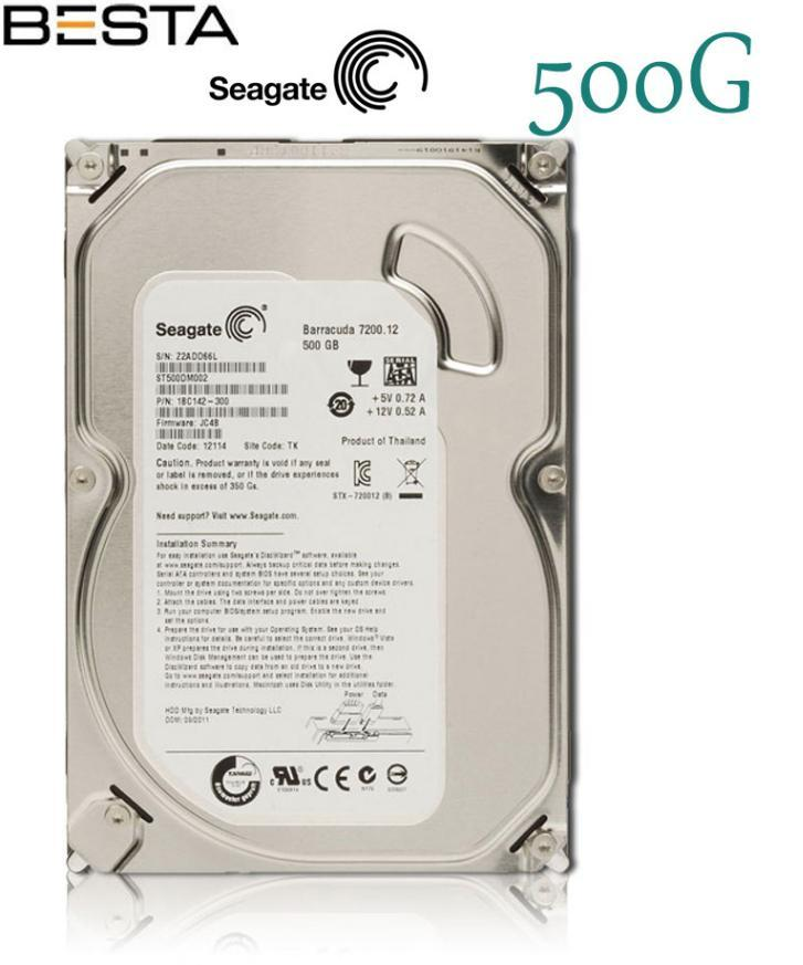 Seagate Barracuda 500GB 3.5 inç 7200RPM Sata 3.0 16Mb Harddisk
