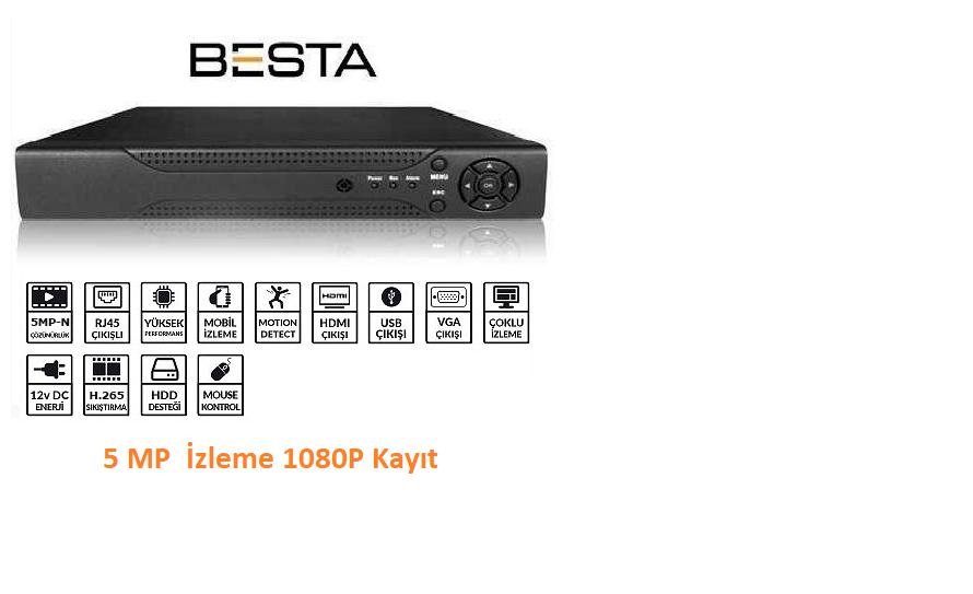 8 Kanal 1080p kayıt cihazı